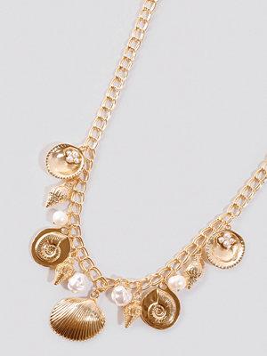 NA-KD Accessories smycke Multi Shell Pendant Necklace guld