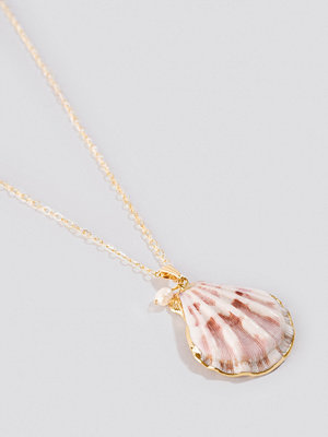 NA-KD Accessories smycke Small Real Shell Necklace vit lila