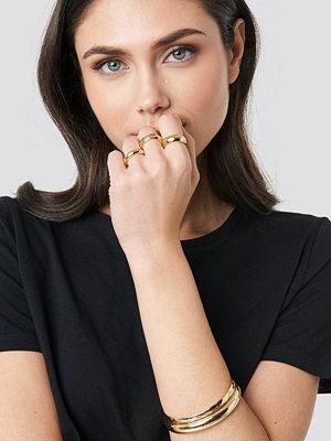 NA-KD Accessories smycke Chunky Rings and Bangles Set guld