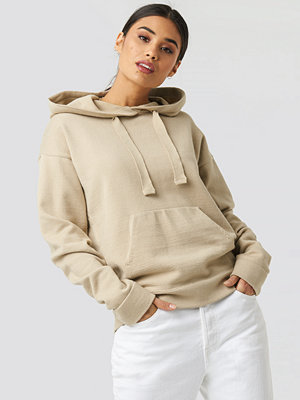 Tröjor - XLE the Label Ty Knitted Hoodie beige