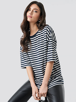 NA-KD Trend Striped Oversized Viscose Tee multicolor