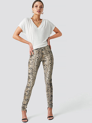 NA-KD Trend Animal Printed Leggings multicolor