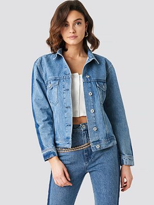 NA-KD Panel Jeans Jacket blå