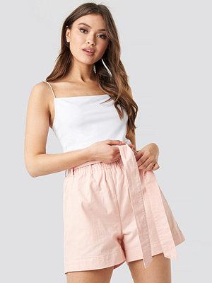 NA-KD Paper Bag Cotton Shorts rosa
