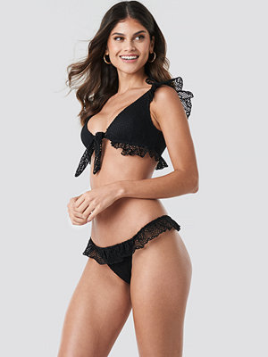 Trendyol Lace Detailed Bikini Bottom svart