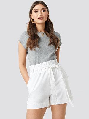 NA-KD Paper Bag Cotton Shorts vit