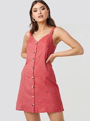 Trendyol Button Detail Mini Dress röd