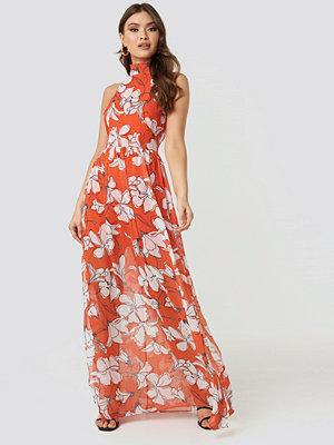 Trendyol Flower Patterned Long Dress multicolor