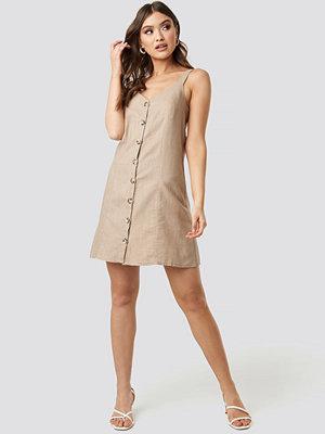 Trendyol Button Detail Mini Dress beige