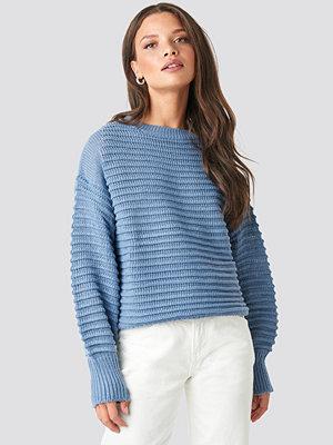 Rut & Circle Liza Jaquard Knit blå