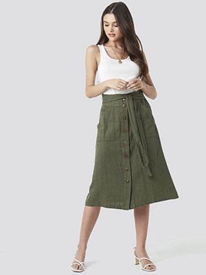 Mango Comptesa Skirt grön