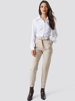 Rut & Circle omönstrade byxor Jenny Suit Pant beige