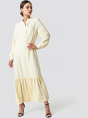 NA-KD Trend Solid Maxi Dress gul