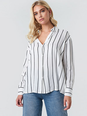 Rut & Circle Oversized Stripe Shirt vit
