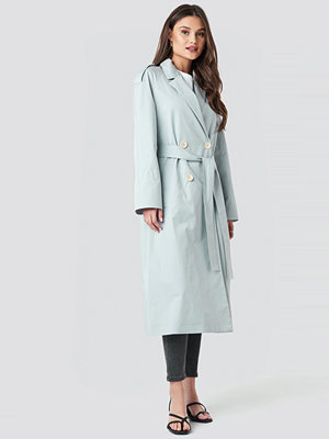 Mango Forty Trench Coat blå