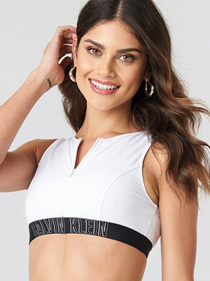 Calvin Klein Open Back Crop Top vit