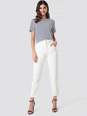 NA-KD Trend Front Yoke Jeans vit