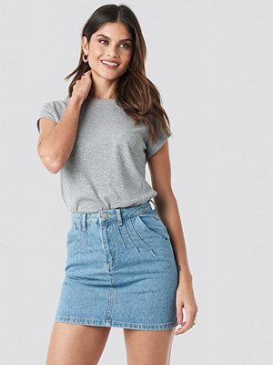 Trendyol Stitch Detail Mini Denim Skirt blå