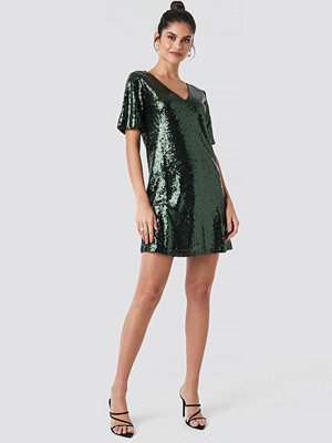 Rut & Circle Lulu Sequins Dress grön