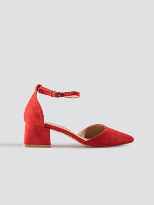 Raid Noely Low Block Heel röd