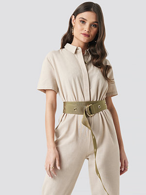 NA-KD Accessories Layered Eyelet Waist Belt grön