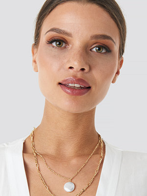 NA-KD Accessories smycke Double Pearl Pendant Necklace guld