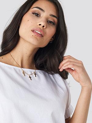 NA-KD Accessories smycke Multi Mini Cross Necklace guld