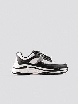 NA-KD Shoes Aero Sneaker svart vit