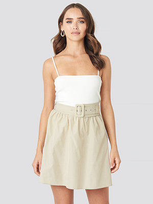 Trendyol Belt Detailed Skirt beige