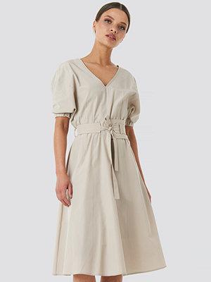 Trendyol Wos Belt Detailed Dress beige