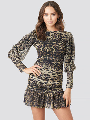 Festklänningar - Trendyol Leopard Drape Detailed Dress multicolor