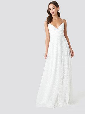 Trendyol Double Breasted Neckline Evening Dress vit