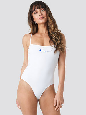 Baddräkter - Champion Back Cross Swimsuit vit