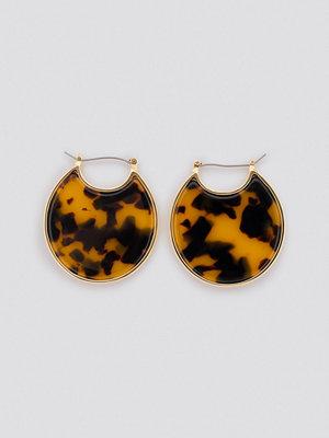 NA-KD Accessories smycke Resin Plate Earrings guld