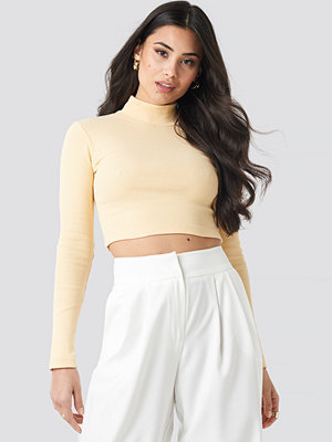 Beyyoglu Half Turtleneck Crop Top gul