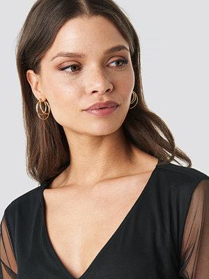 NA-KD Accessories smycke Layered Mini Hoop Earring Set guld