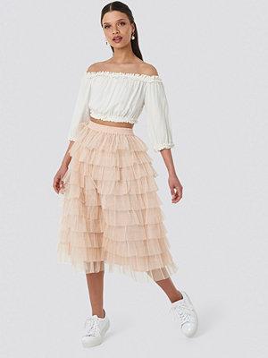 Schanna x NA-KD Tulle Maxi Skirt rosa