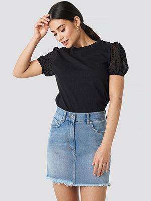 Trendyol Tulle Detailed Knitted Blouse svart