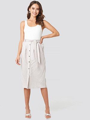 Trendyol Tulum Midi Skirt beige