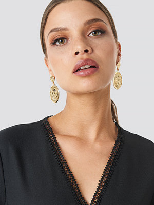 NA-KD Accessories smycke Big Coin Earrings guld