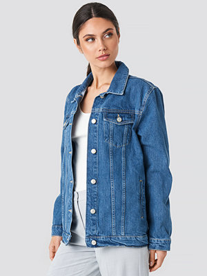 Trendyol Yol Oversized Denim Jacket blå