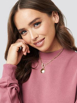 NA-KD Accessories smycke T-Bar Big Coin Necklace guld