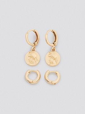 NA-KD Accessories smycke Mini Coin Earring Set guld