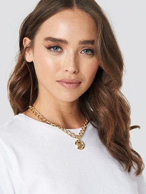NA-KD Accessories smycke Big Chain Vintage Coin Necklace guld
