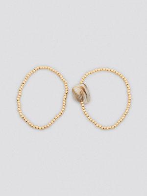 NA-KD Accessories smycke Shell Detailed Double Bracelets guld