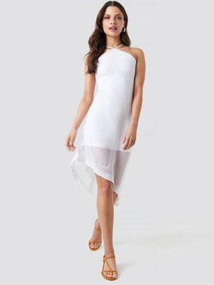 NA-KD Halter Neck Midi Dress vit