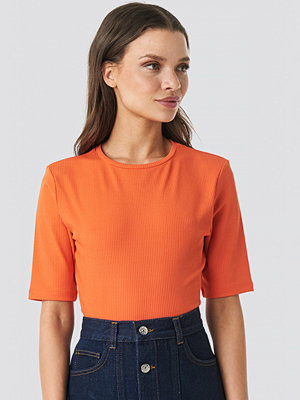 NA-KD Ribbed Cropped Top orange