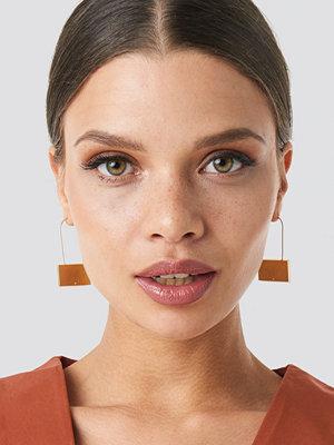 NA-KD Accessories smycke Squared Stone Fine Earrings guld