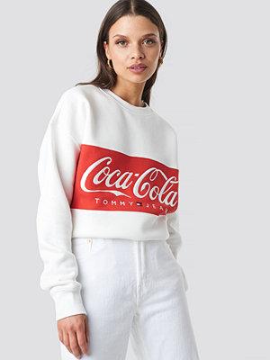 Tröjor - Tommy Jeans Tommy x Coca Cola Crewneck vit