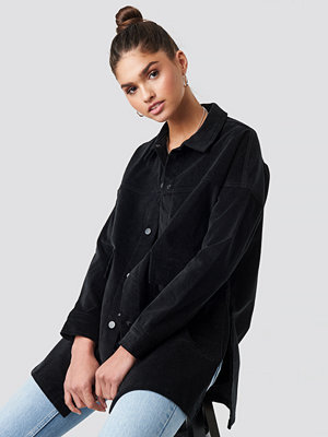 NA-KD Corduroy Overshirt Jacket svart
